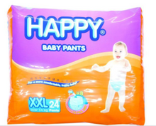 Load image into Gallery viewer, Happy Diapers Baby Pants 24pcs (Assorted Sizes)