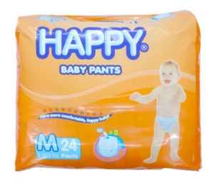 Happy Diapers Baby Pants 24pcs (Assorted Sizes)