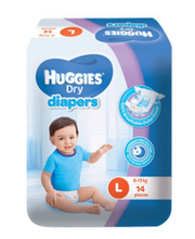 Load image into Gallery viewer, Huggies Dry Diapers Tape (Assorted Sizes & Pieces)