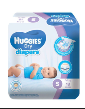 Huggies Dry Diapers Tape (Assorted Sizes & Pieces)