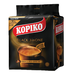 Kopiko Black Coffee 3-in-1 (Assorted Sizes)