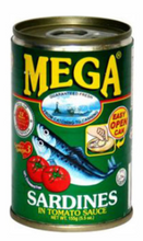 Load image into Gallery viewer, Mega Sardines Tomato Sauce 155g (Assorted Flavors)