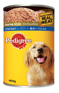 Pedigree Adult Chicken and Liver Home Style Dog Food 400g