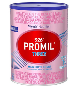 S26 Promil Three Milk (Assorted Sizes)