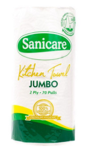 Sanicare Kitchen Towel Jumbo 2ply 70pulls