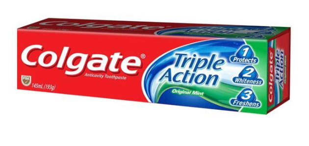 Colgate Triple Action Toothpaste (Various Sizes)