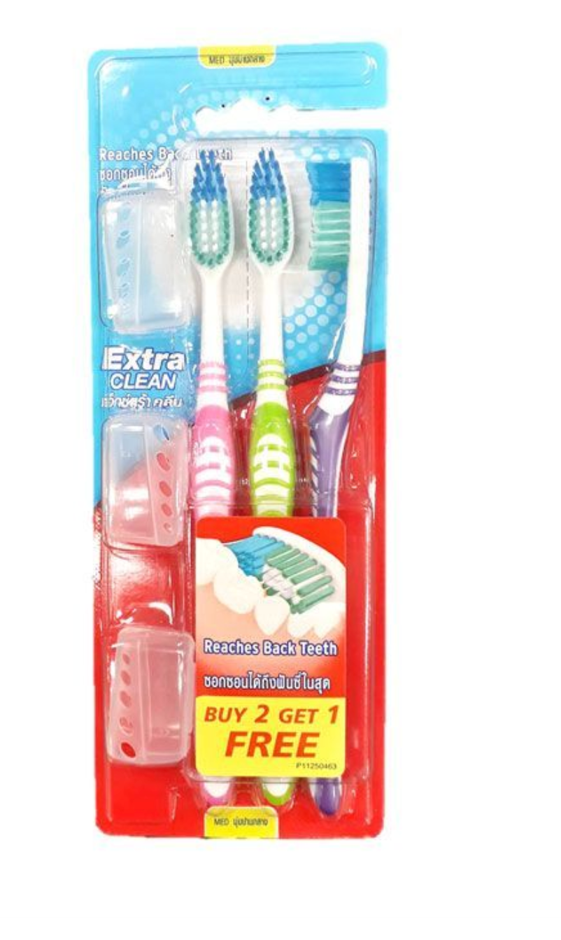 Colgate Extra Clean Toothbrush (3 pcs)
