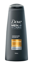 Load image into Gallery viewer, Dove Men Strengthening Fortifying Shampoo with Caffeine and Trichazole Actives (Various Sizes)