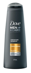 Dove Men Strengthening Fortifying Shampoo with Caffeine and Trichazole Actives (Various Sizes)