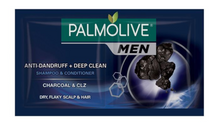 Load image into Gallery viewer, Palmolive Men Anti Dandruff Plus Deep Clean Charcoal Shampoo and Conditioner (Assorted Sizes)