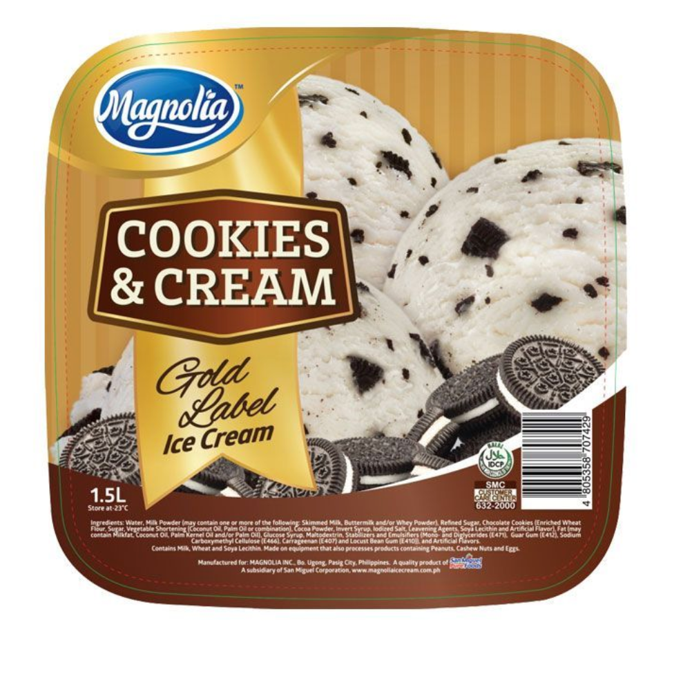 Magnolia Gold Label Ice Cream Cookies and Cream 1.5L