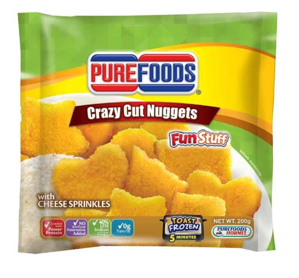 Purefoods Crazy Cut Chicken Nuggets with Cheese Sprinkles