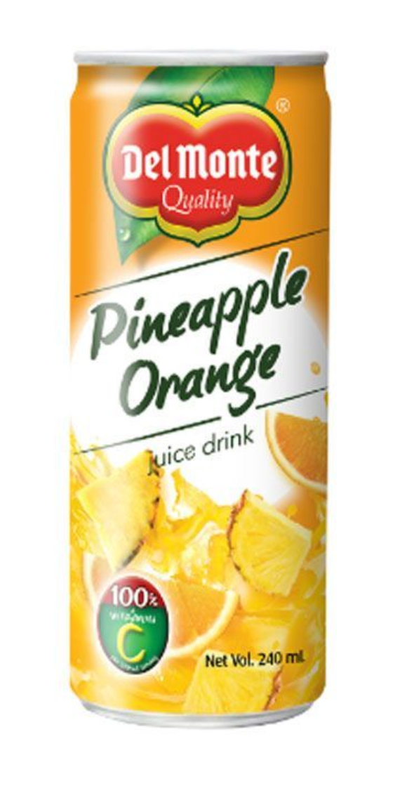 Del Monte Pineapple Orange Juice Drink 240ml