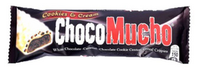 Choco Mucho Cookies and Cream White Chocolate with Caramel, Cookie, and Cereal Crisps Wafer Roll 30g