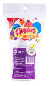 Cheers Biodegradable Disposable Cups 8oz