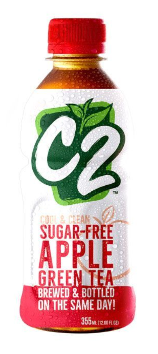 C2 Sugar Free Apple Green Tea (Assorted Sizes)