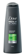 Load image into Gallery viewer, Dove Men Fortifying Shampoo Refreshing Clean with Caffeine and Menthol (Various Sizes)
