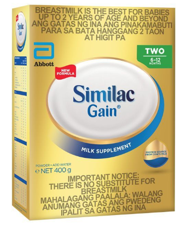 Similac Gain Two 6-12 Months (Assorted Sizes)
