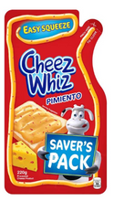 Load image into Gallery viewer, Cheez Whiz Cheese Pimiento Easy Squeeze Spread (Assorted Sizes)