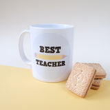 Best Teacher Mug - squared paper design