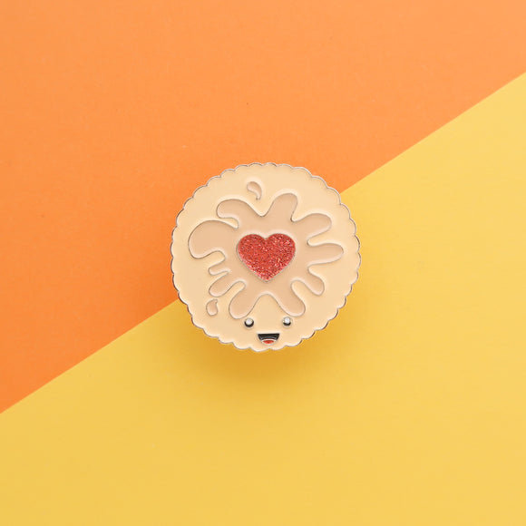 Jammy Dodger - Classic Biscuit Enamel Pin