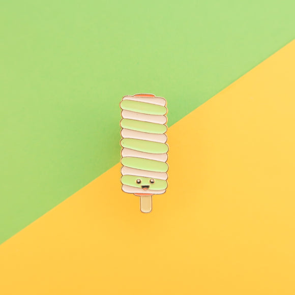 Twister Ice Lolly - Retro Ice Cream Enamel Pin