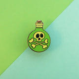 Poison Potion Bottle - GLOW IN THE DARK - Hard Enamel Pin