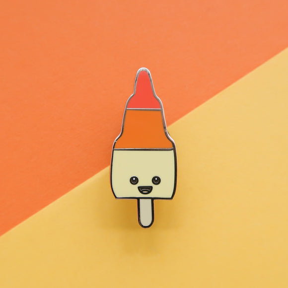 Zoom Rocket Ice Lolly - Retro Ice Cream Enamel Pin