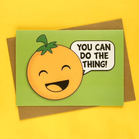 Orange of Optimism - positive and motivational greeting card