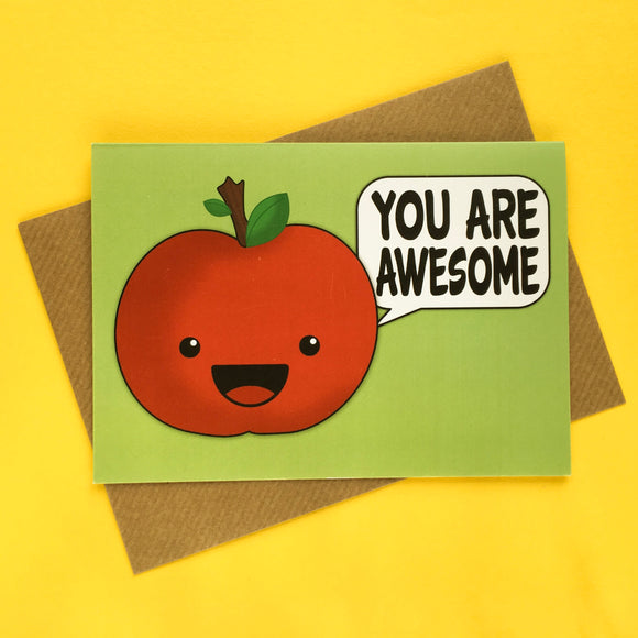 Apple of Affirmation - positive and motivational greeting card
