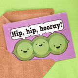 Peas of Positivity - positive and motivational greeting card