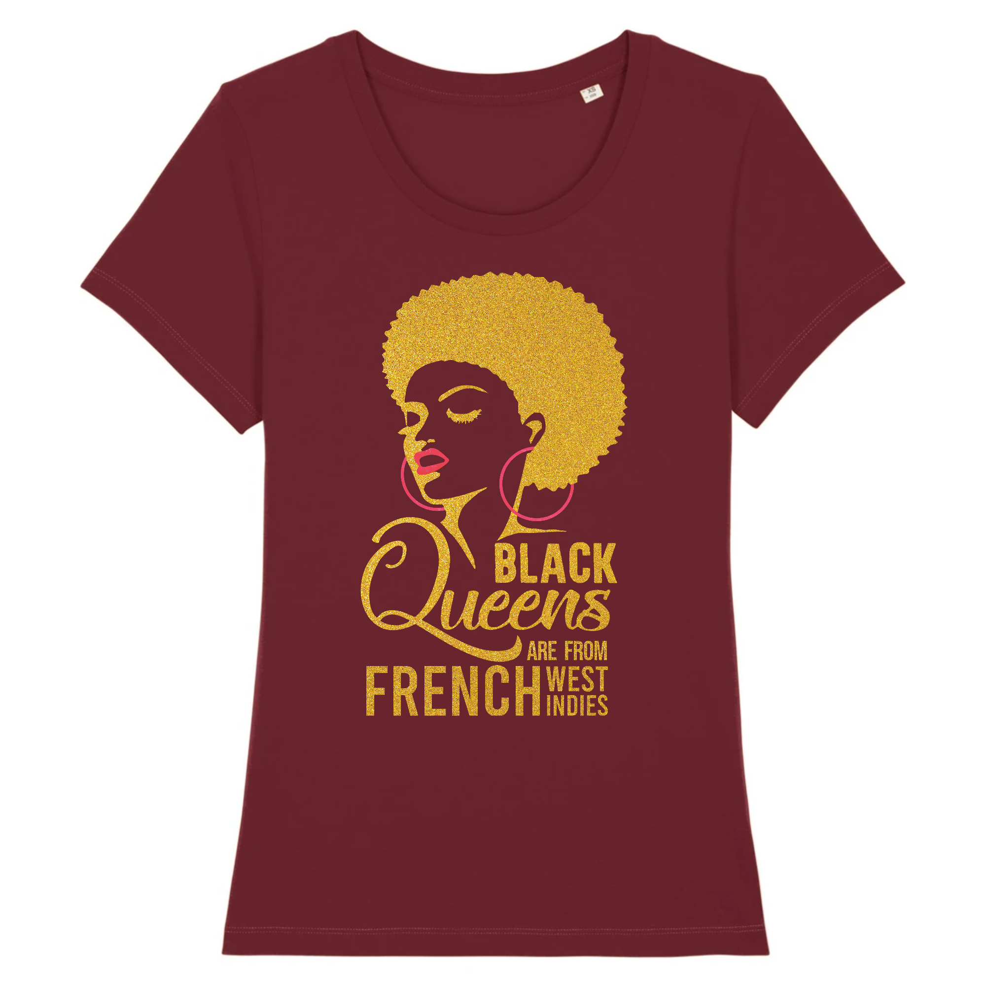 T-Shirt Slim BIO Black Queens Are From FWI