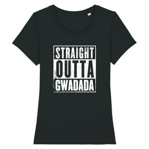 T-Shirt Slim BIO Straight Outta Gwadada