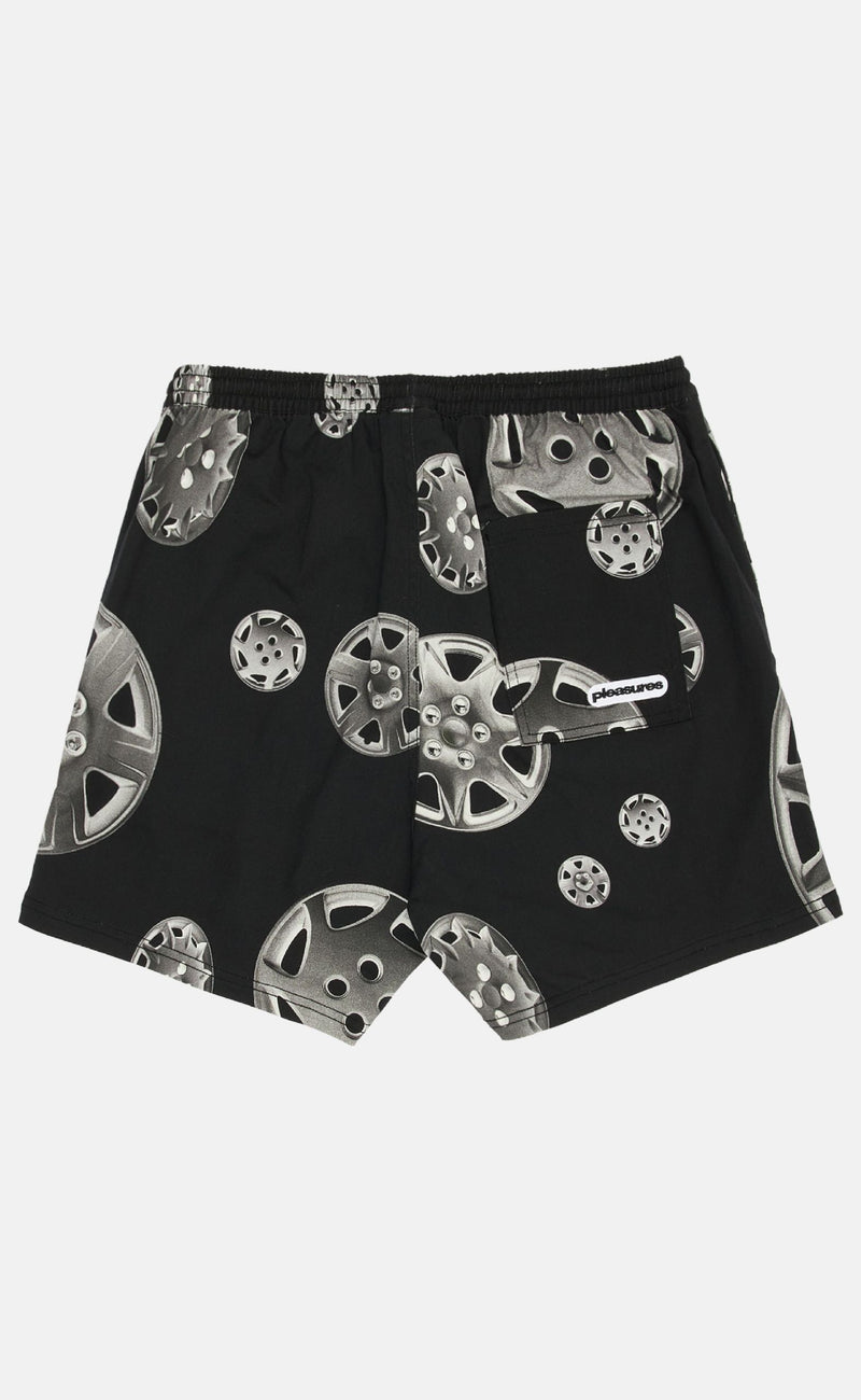 BLACK ROADSIDE TWILL SHORTS