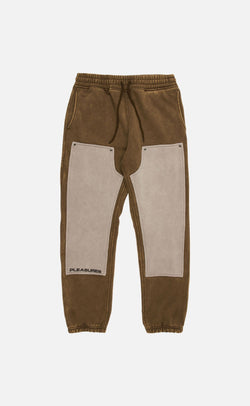 OLIVE BURNOUT DYED SWEATPANT