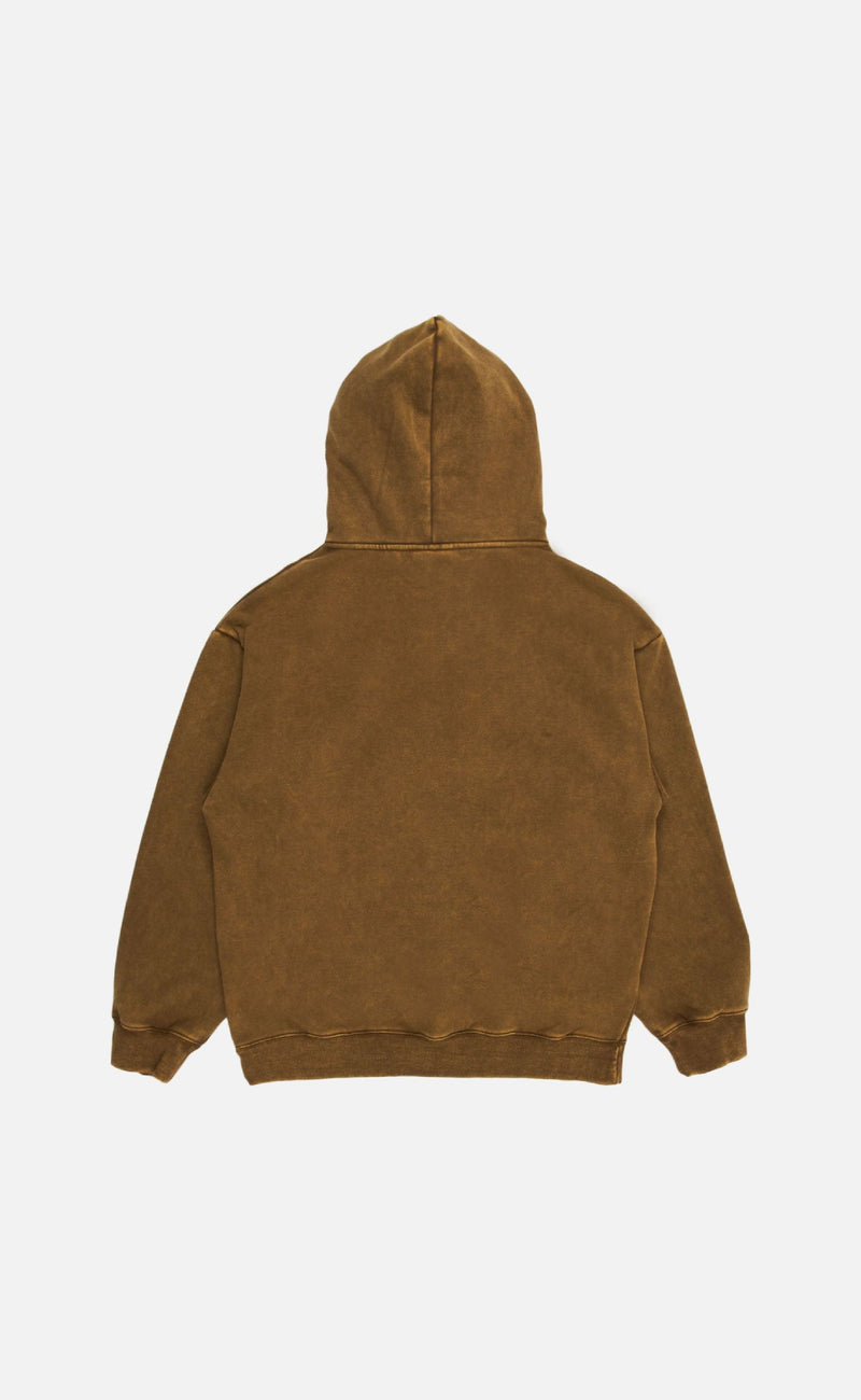OLIVE BURNOUT DYED HOODY