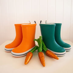 Orange and green Easter Gumboots