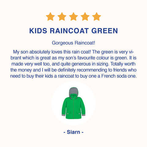 Affordable kids raincoats that can be handed down