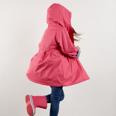 Pink raincoats for girls