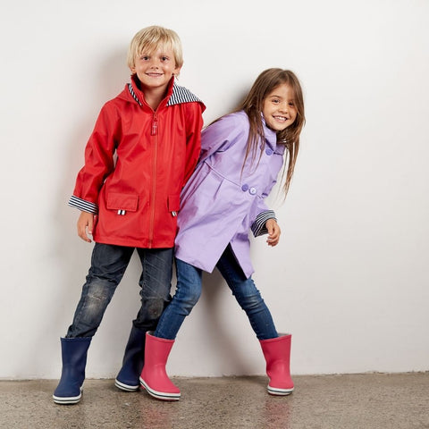 Raincoats for boys and girls that can be handed down