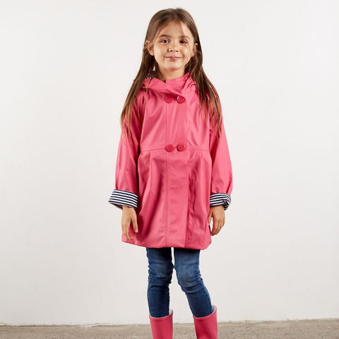 Girl raincoats with buttons