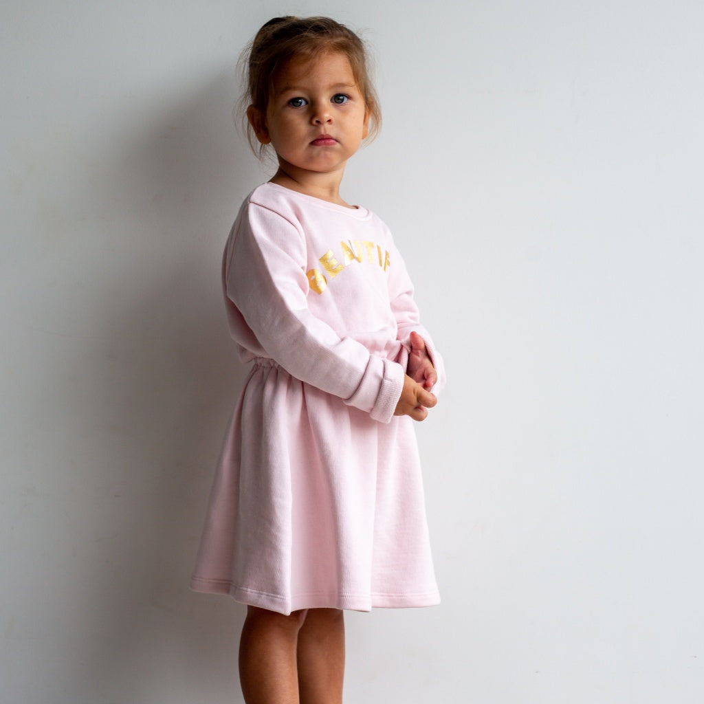 Soft Pink Winter Cotton Dress
