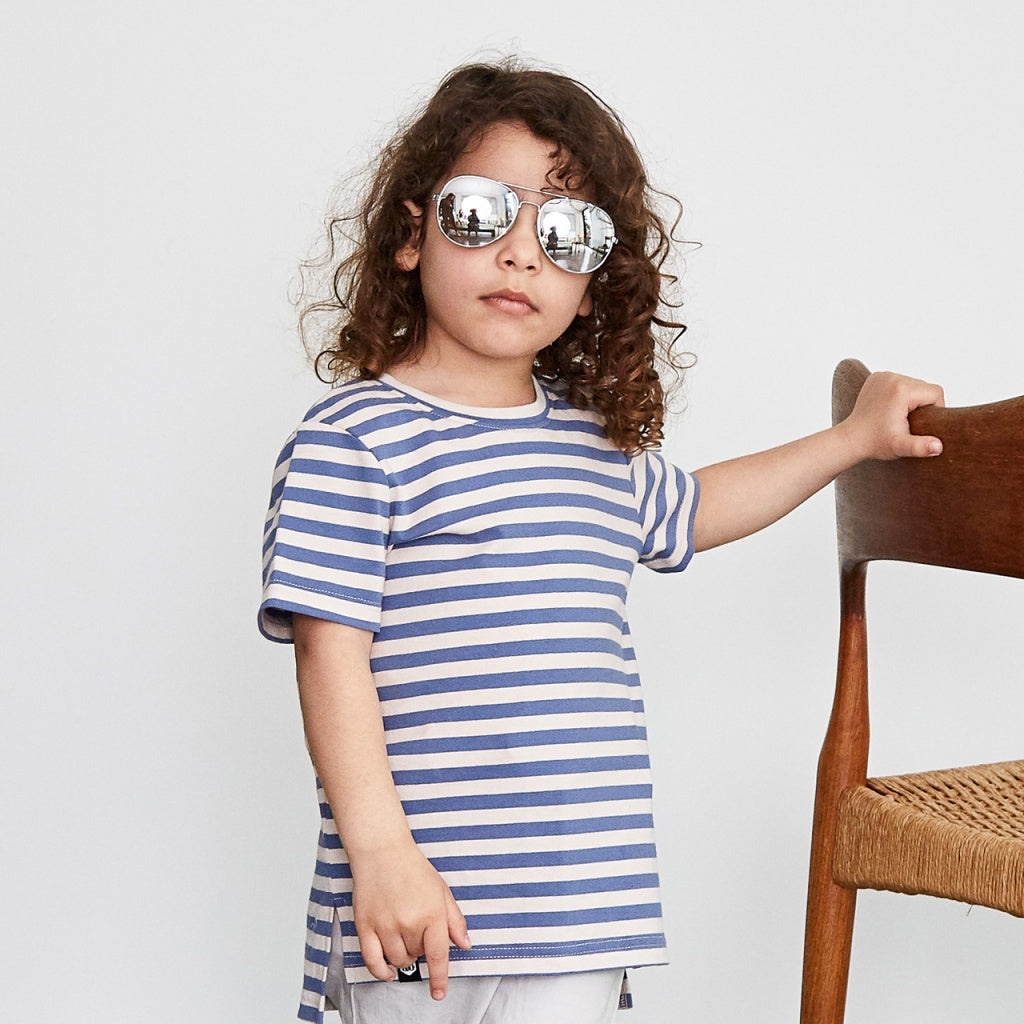 Boys blue stripe tee