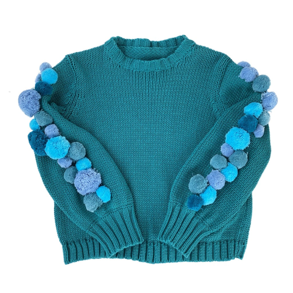 Girls Pom Pom Jumper