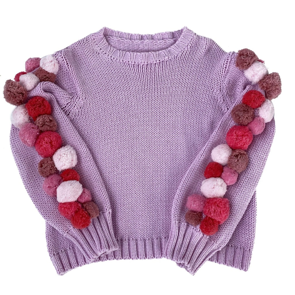 Girls Pink Kinit Jumper