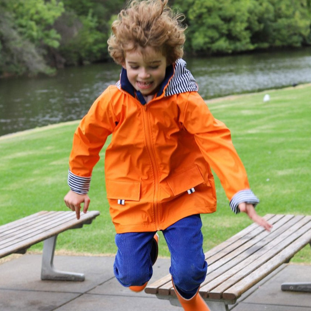 Unisex Kids Raincoat Orange