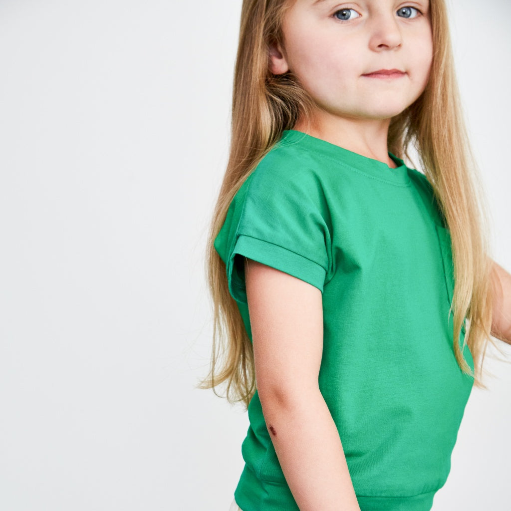 Girls green summer top