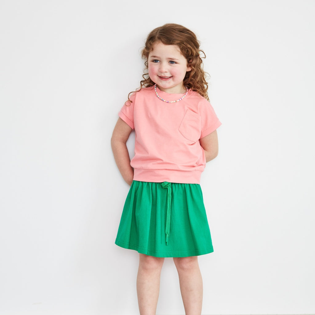 Green Jersey Skirt Kids