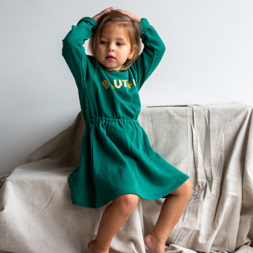 Winter Dress for Girls in Green