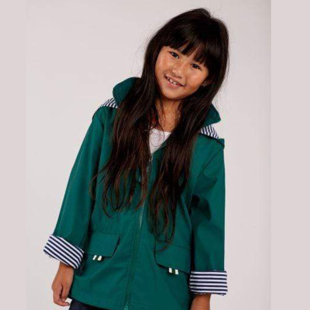 Kids' Raincoat - Meadow Green